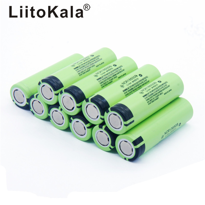 2019 NEW 10pcs/lot LiitoKala Original 18650 Battery 3400mah 3.7v Lithium Battery For Panasonic NCR18650B 3.7V Flashlight Battery