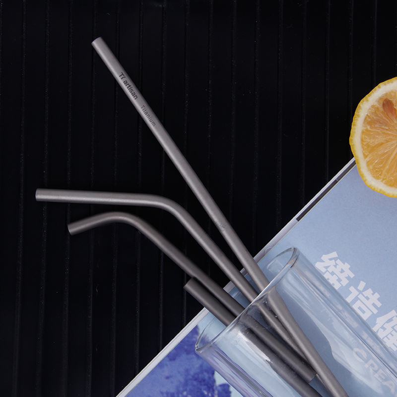 Tiartisan 5 in1outdoor titanium drink straws convenient eco friendly and reusable straw set in Outdoor Tablewares from Sports Entertainment