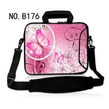 Pink Butterfly girls messenger laptop computer Baggage Fashionable model trend Women shoulder laptop computer bag case for 15.6 inch pocket book pc