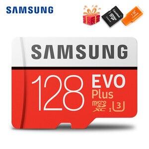 Image 1 - SAMSUNG Microsd Card 256G 128GB 64GB 32GB 16GB 8GB 100Mb/s Class10 U3 U1 SDXC Grade EVO+ Micro SD Card Memory Card TF Flash Card