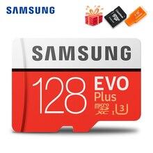 SAMSUNG tarjeta Microsd Clase 10 U3 U1 SDXC grado EVO +, tarjeta de memoria Flash TF, 256G, 128GB, 64GB, 32GB, 16GB, 8GB, 100 Mb/s