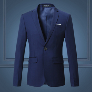 Image 5 - Black Classy Mens Blazer Jacket One Button Slim Wedding Suit Men Solid M 3XL Mens Casual Blazers White Customizable Big Size