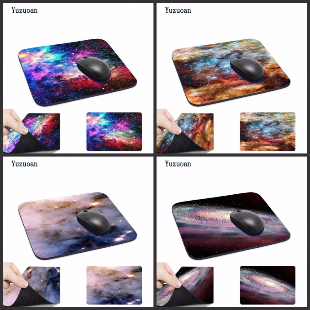 Yuzuoan Outer space stars art Anti-Slip Mouse Pad 180x220x2mm and 250x290x2mm mat Cool Design mouse pad Customized Support