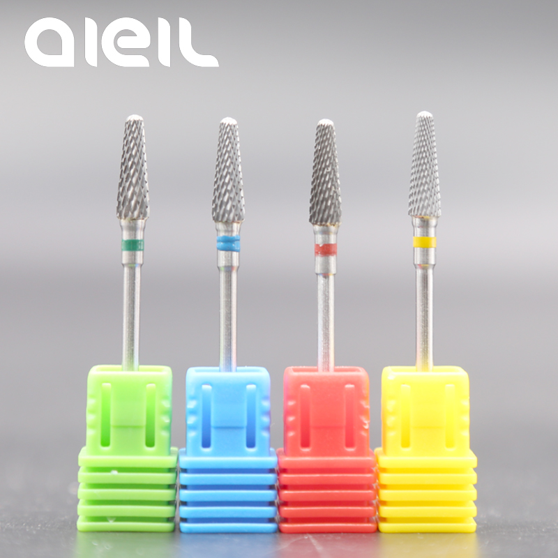 Image 2 - Tungsten Carbide Nail Drill Bits Milling Cutters For Manicure Nail Drill Bits Manicure Cutters For Nails Manicure Machine Cutter-in Electric Manicure Drills from Beauty & Health