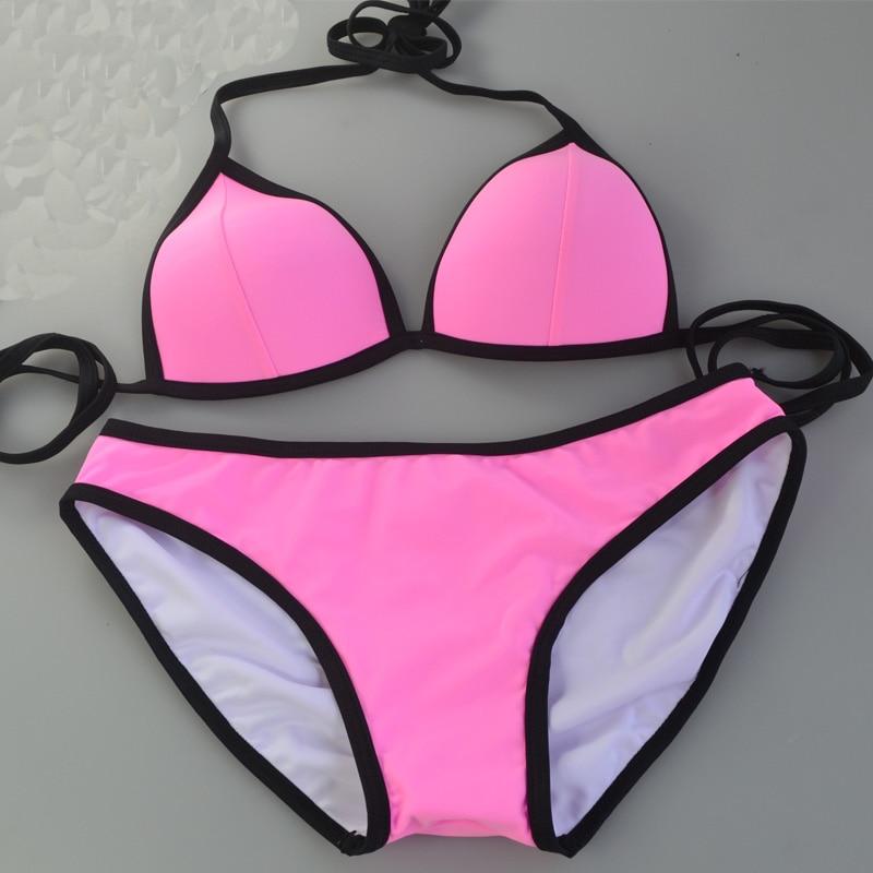 איכות גבוהה Supervalu צבעוני נשים צבעוניות פשוט יפה משולש סקסי ביקיני חוף בגדי ים חזה קטן ביקיני ביקיני