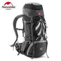 NatureHike 70L сумка для активного отдыха и походов Кемпинг Пеший Туризм Рюкзаки профессиональный открытый вместительный рюкзак с Поддержка Сист