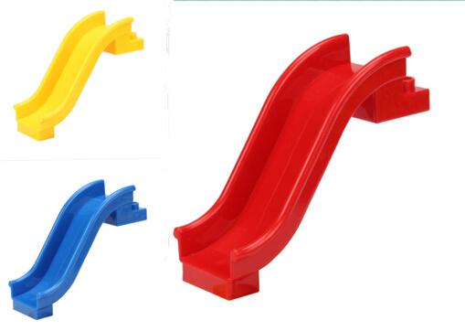 mini tobogn para nios juguetes juegos de bloques de construccin de tres colores juguete de