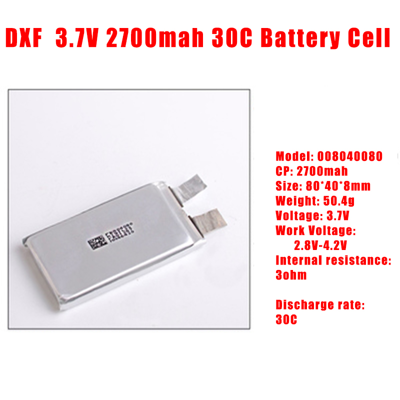 2017 DXF Helicopter Airplane font b drone b font 2700mah 3 7V 30C max60C Battery cell