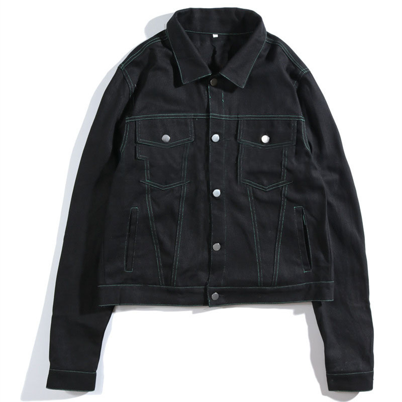 Blank denim jacket for men and women-in Jackets from Men's Clothing    1