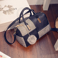 Aresland Leather Women Bag Handbag Composite Bag Ladies Shoulder Tote Satchel Messenger Crossbody Bag Black bolsas femininas