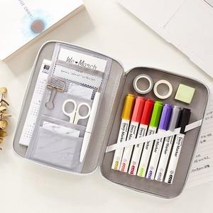 Image 2 - JIANWU 1Pc Korean Creative Stationery Bag For Girls And Boys High Capacity Pencil Bag Pencil case School Office Supplies kawaii
