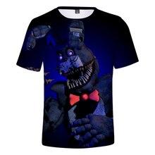 Five Nights at Freddy 3D Printed T-shirts Women/Men/Children Fashion Summer Short Sleeve Tshirts 2018 Casual Trendy Wear 4XL