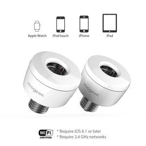 Image 4 - Koogeek WIFI สมาร์ทซ็อกเก็ตอะแดปเตอร์หลอดไฟ E26 สมาร์ทโคมไฟฐานสำหรับ Apple HomeKit Siri สมาร์ทรีโมทคอนโทรล [เท่านั้นสำหรับ IOS]