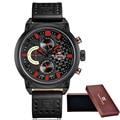2016 NAVIFORCE Relojes Hombres Lujo de la Marca de Moda Casual relojes de pulsera de Cuarzo de Cuero Impermeable Reloj Deportivo Hombre Reloj