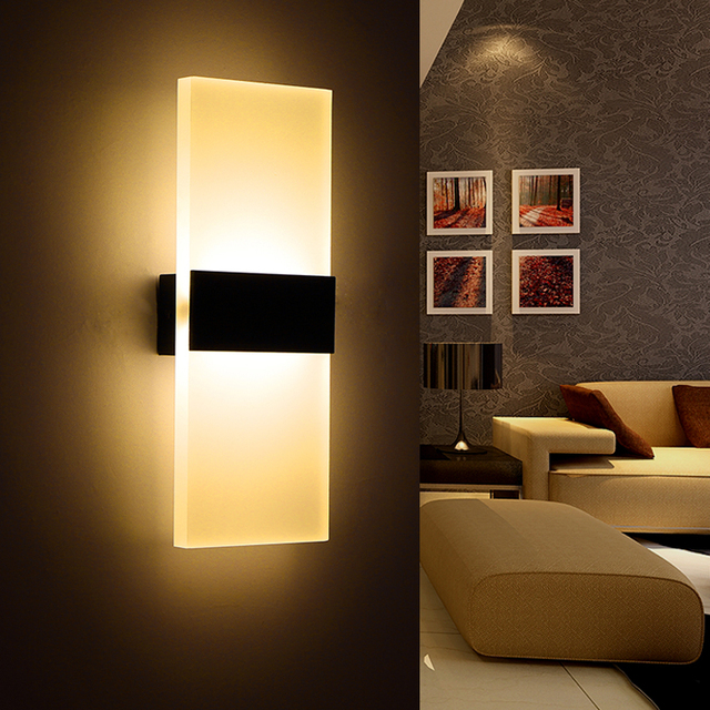 Modern bedroom wall lamps abajur applique murale bathroom sconces home lighting led strip wall light fixtures