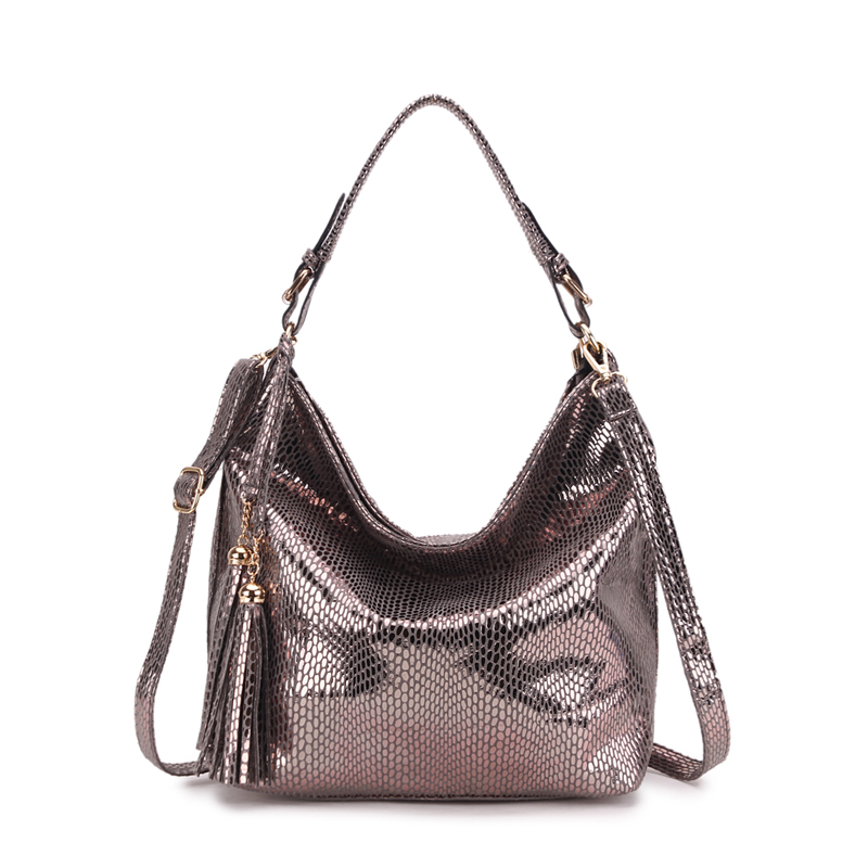 New Serpentine Leather Women Bags Genuine Luxury Shoulder Bags Female Fashion Hobo Tote Bags Purses and Handbag bolsas sac femme