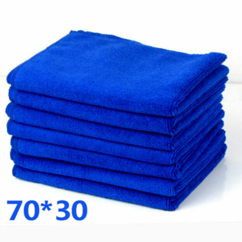 70 X 30 cm Large Size 1PC Microfiber Wipe Dry Cleaner Auto Car Detailing Soft Cloths Wash Towel Duster Cleaning Cloths Blue