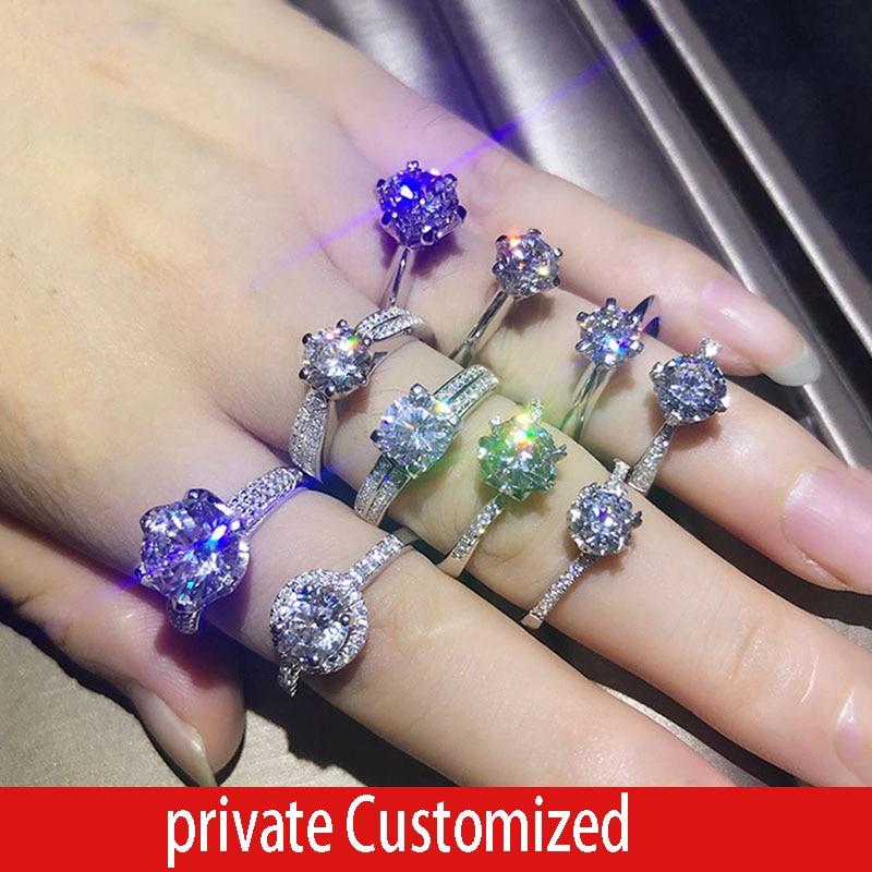 Wir haben eine menge von stilen, die wir gerne anpassen. 1 5 Carat ct Hochzeit Moissanite Diamant Ring Genuine 18K Gold-in Ringe aus Schmuck und Accessoires bei  Gruppe 1