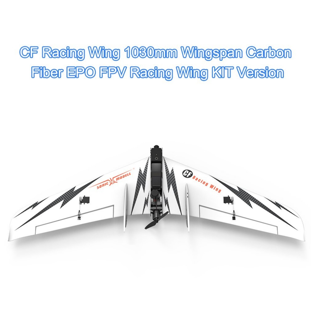 SONIC MODELL CF Wing 1030mm Wingspan Carbon Fiber EPO FPV Racing Wing FPV Fixed Wing KIT Version RC Airplane x uav mini talon epo 1300mm wingspan v tail fpv rc model radio remote control airplane aircraft kit