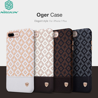 For IPhone 7 Plus Cover Original Nillkin Oger Brief Plaid Leather Build In Iron Sheet Shell