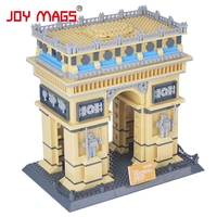 Toy Building Blocks Famous Architecture Series The French Arc De Triomphe 3D Model Classic Toys 8021