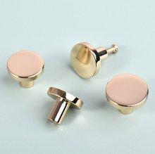 Modern Drawer Pulls Knob Champagne Gold Pure Copper Cabinet Handles Knob Dresser Knobs Door Knobs Furniture Hardware