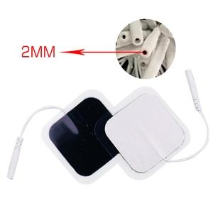 Image 5 - 20/10 P 5X5 Cm Hoge Kwaliteit Zenuw Stimulator Siliconen Gel Elektroden Tientallen Elektroden Digitale Therapie machine Massage 2 Mm Plug