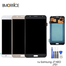 AMOLED/TFT For SAMSUNG Galaxy J7 Neo J701 J701F J701M LCD Display Touch Screen Digitizer OEM SUPER OLED Assembly Adjustable 5.5