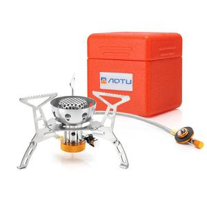 Image 1 - WOEN AT6309 B camping With electronic ignition Windproof stainless steel Gas stove Outdoor stove Power: 3200W