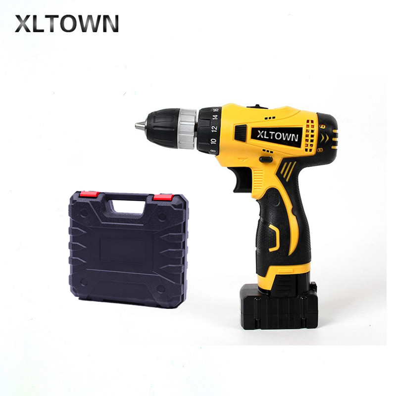 XLTOWN new 25V ElectricDrill 2000mA Large Capacity Lithium Battery Electric Screwdriver Rechargeable Multi-Motion Electric Drill 2016 promotion new standard battery cube 3 7v lithium battery electric plate common flat capacity 5067100