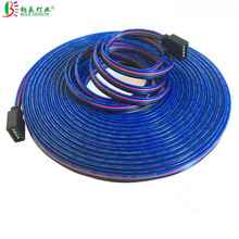 DC 12V 4PIN RGB Extension Cable 22AWG 4 Conductor Extend Cord Wire For 3528 5050 LED Strip 5M 10M 50M 100M