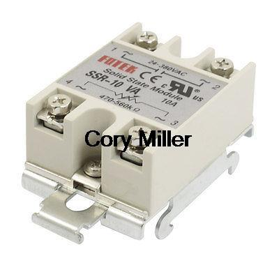 цена на SSR 10A AC 24-380V Resistance Type Adjustable Solid State Relay w DIN Rail Base