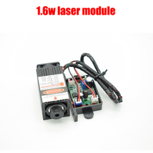 1.6 w haute puissance 450NM en se concentrant bleu laser module laser gravure et la découpe TTL module 1600 mw laser tube + googles