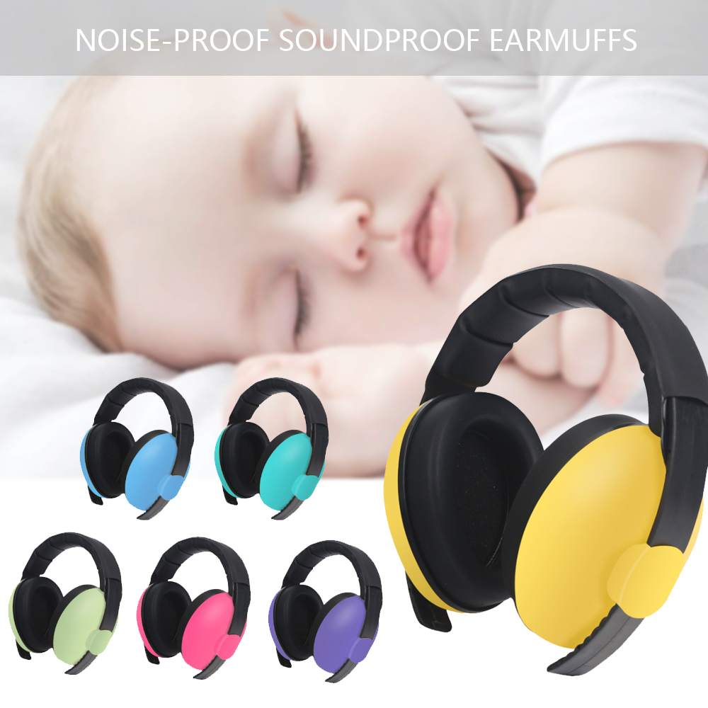 Drop shipping CYSINCOS Baby Children Sleep Noise Proof Earmuffs Protection Baby Boys Girls Anti-Noise Durable Headphone image