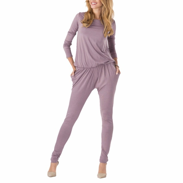 Mujer Manga Larga Atractiva caliente Clubwear Partido Playsuit Mono Mameluco Pantalones Largos
