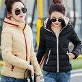 Baratos por atacado 2017 new Outono Inverno venda Quente das mulheres moda casual de algodão para baixo quente jaqueta básica Das Meninas Casaco manteau femme