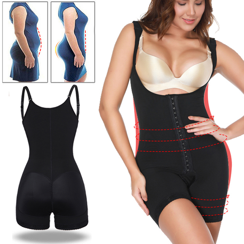 b00cbd6f6 Mouse over to zoom in. Womens Seamless Full Body Shaper Powernet Shapewear  Bodysuit ...