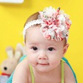 Cute Baby Girl Headband Hair Flower Lace+Gauze Hair Ribbon Headdress Children