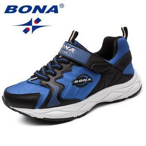 Image 5 - BONA Yeni Popüler Tarzı Çocuk rahat ayakkabılar Kanca ve Döngü Kızlar Ayakkabı Sentetik Erkek Loaferlar Açık Moda Spor Ayakkabı