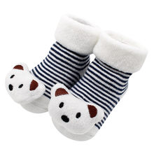 Children Summer Spring Autumn Cartoon Newborn Baby Girls Boys Newborn Kids Anti-Slip Short Socks Slipper Shoes Boots Hot New(China)