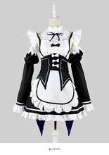 Re Zero élet egy másik világban Manga Rem Maid Cosplay ruha