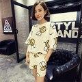 two piece set 2016 new fashion fresh Lovely Student Little bee Korean Hot pants 2 piece set women harajuku shorts t shirt women