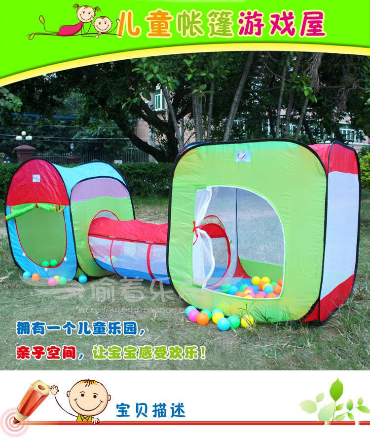 3 In 1 Children tunnel Tent Baby Toy Play Game House Kids Outdoor Tents Birthday Gift-in Baby Playpens from Mother u0026 Kids on Aliexpress.com | Alibaba Group & 3 In 1 Children tunnel Tent Baby Toy Play Game House Kids Outdoor ...
