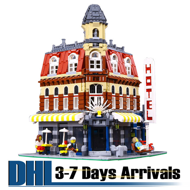 DHL Free Shipping Birthday Gifts For Kids High Quality Abs Model Building Kits Coffee Shop Block Toys Educational 15002