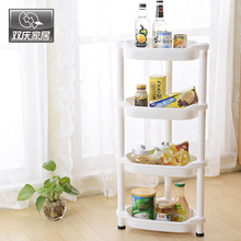 Bathroom Organizer Multifunction Removable Plastic 4 Tiers Corner Storage Shelves Commodity Stroage Rack Home Decor
