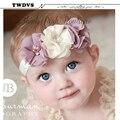 Twdvs rhinestone da fita do diamante pérola headwear hairbands meninas do bebê flores headband crianças acessórios para o cabelo de costura jeaely w045