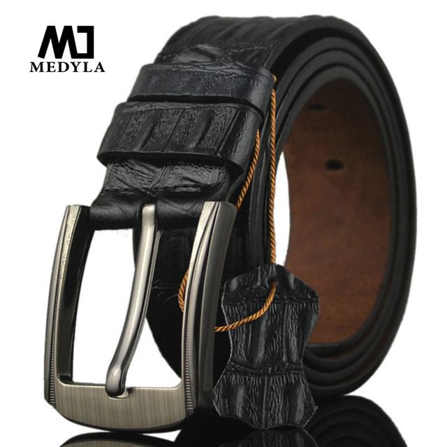 2017 Más Nuevos cinturones de diseño hombres de alta calidad de cuero de vaca genuino ceinture para hombre cinturones de lujo hebilla de la vendimia