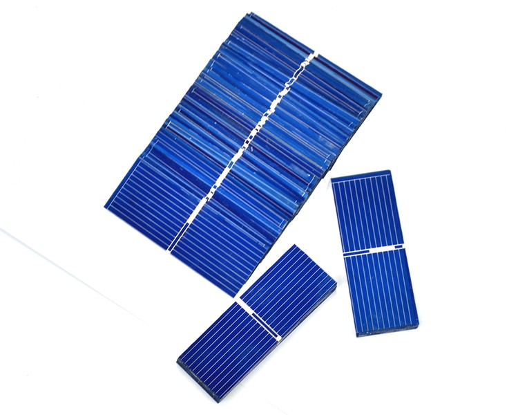 100pcs 52*19mm Solar Panels Painel Polycrystalline Silicon solar cells For DIY Charging experiment testing 8