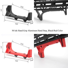 Aplus Nero/Rosso Color_Aluminum Handstop Tattico M lok Stile Mano Stop Kit Ultralight Anoidzed Trasporto Libero