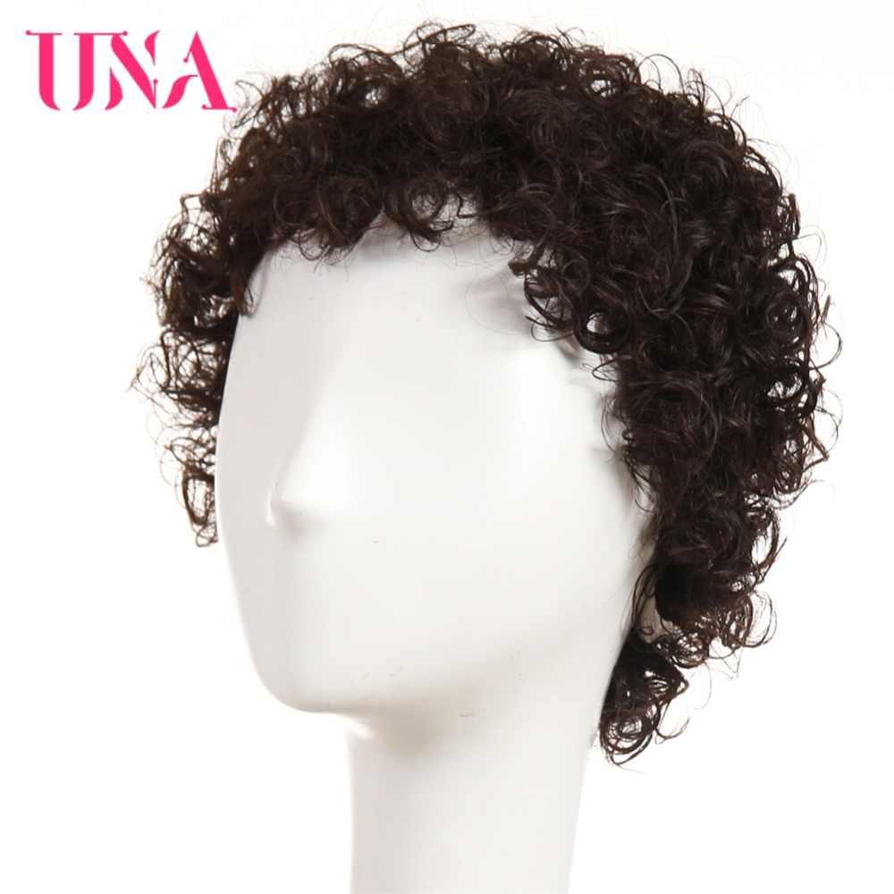 Pelucas de pelo humano UNA India pelucas de pelo no Remy de alta densidad corto Jerry Curl pelucas de Color #1 # 1B #2 #4 #27 #30 #33 #350 # 99J # BURG